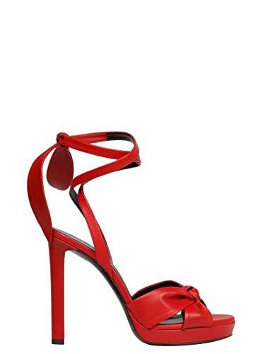 Rosso Scarpe Pelle 5665210rr006805 Donna Con Tacco Laurent Saint P5n0ZwqX