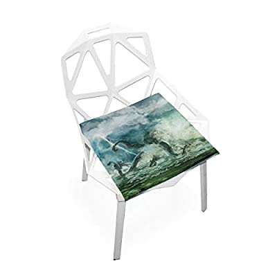 Bardic HNTGHX Outdoor/Indoor Chair Cushion Ocean Kraken Octopus Square Memory Foam Seat Pads Cushion for Patio Dining, 16
