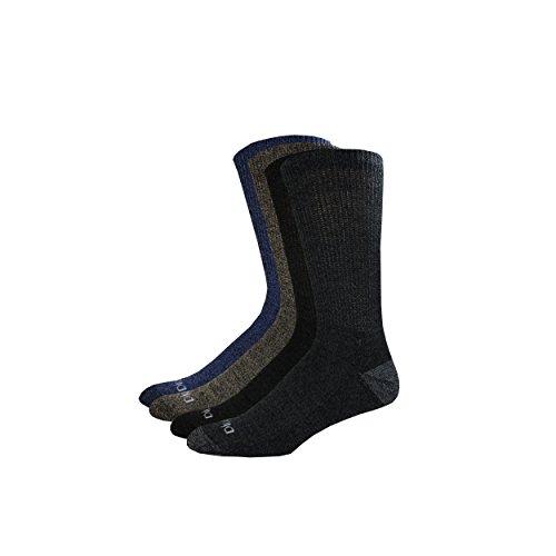 Dickies Men's Wide Leg Comfort Moisture Control Crew Socks, Black,