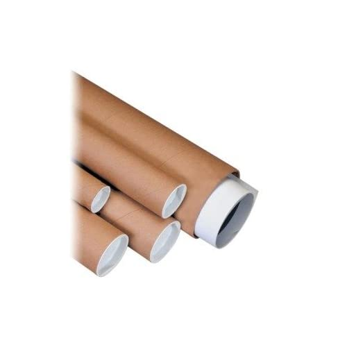 "3"" x 12"" Kraft Mailing Tubes with Capsÿ (P3012K) Category: Mailing Tubes"