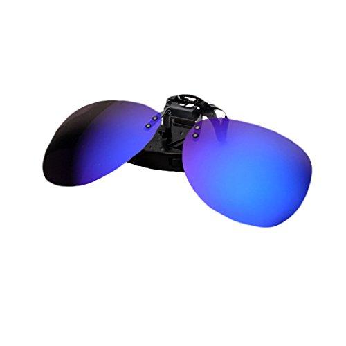 Zando UV400 Protection Anti-Glare Polarized Clip-on Flip up Rubber Clip Sunglasses Night Vision Driver Glasses - Usa In Frames Glasses Made