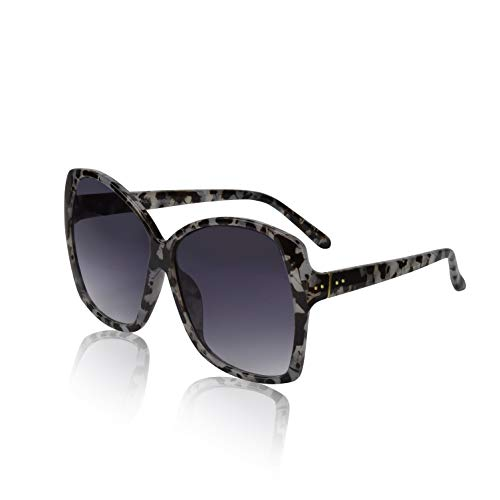 Super Oversized Womens Sunglasses Cool Big Frame Glasses Shades Marble Smoke ()