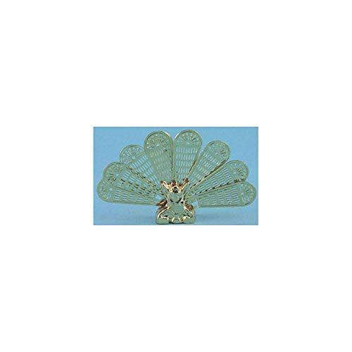 (Dollhouse Miniature Brass Peacock Firescreen Mh3000 4h)