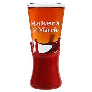 Maker's Mark Cordial Tall Clear Shot Glass w/Wax Dipped Base