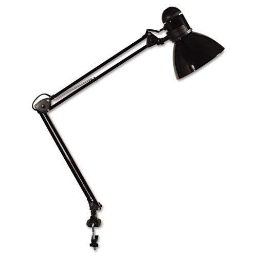 Opti Series Swing Arm Incandescent Lamp, 30 Inches Reach, Black