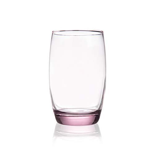 Burns Glass 13 OZ BRANDYWINE BEVERAGE Glasses Set of 6 I Clear Heavy Glass – Drinking Glasses for Water, Milk, Juice…