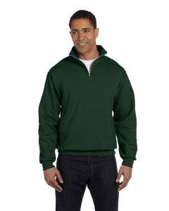 Jerzees 995 Adult NuBlend 1 By 4-Zip Cadet Collar Sweatshirt - Forest, 2XL