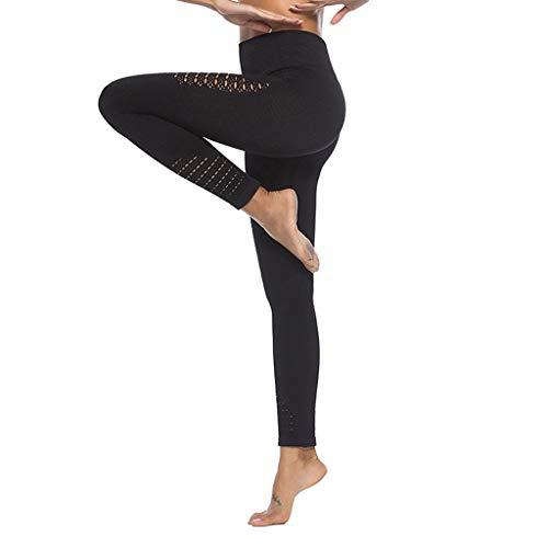 HAPPIShare Yoga Pants Women High Waisted Ruched Butt Lift Textured Tummy Control Scrunch Leggings Black