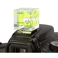 Camera Hot Shoe Hotshoe Triple 3 Axis Spirit Bubble Level for Canon 1200D 1300D 700D 650D 750D,800D,200D 100D,70D 77D 80D,7D 6D,Nikon D3400,D3300 D7500,D5600 D5500,D3200,D3300,Olympus Pentax Fuji Panasonic Cameras & DSLR/SLR