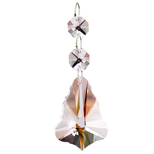 - Fushing 10Pcs Christmas Tree Style Crystal Beads Drop Pendants Chandelier Curtain Lamp Chain Prisms for Wedding Party Decoration (50mm)