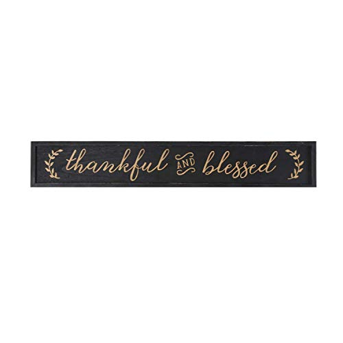 - NIKKY HOME Thankful and Blessed Carved Wood Framed Wall Plaque Sign with Inspirational Quote, 36
