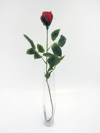 Single Premium Artificial Silk Rose Bud Red Amazon Garden