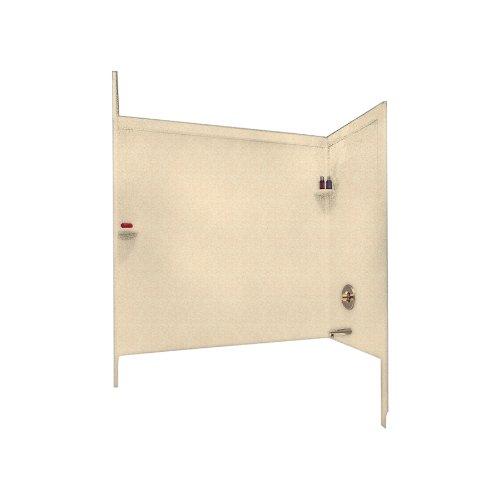 Swanstone SSIT-60-3-063 Solid Surface Bathtub Wall Panel System, 33.5-Inch x 60-Inch x 60-Inch, Cornflower, 3-Piece