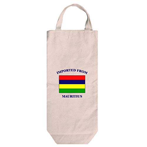Imported From Mauritius Mauritian Cotton Canvas Wine Bag Tote With Handles
