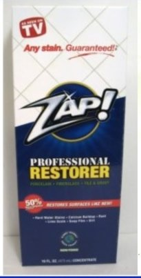 Zap Professional Restorer As seen on TV hard water stains...