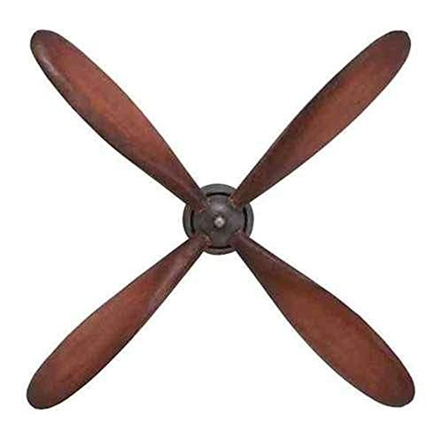 (Nice1159 32x5x32 Inch Vintage Plane Propeller Wall Hanging Art Home Decor Airplane Pilot Flying Room - Rare (Only 1 pc Left))