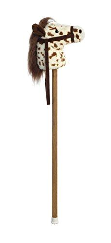 Aurora World Giddy Up Stick Horse with Sound Scot Brown Pinto, 37