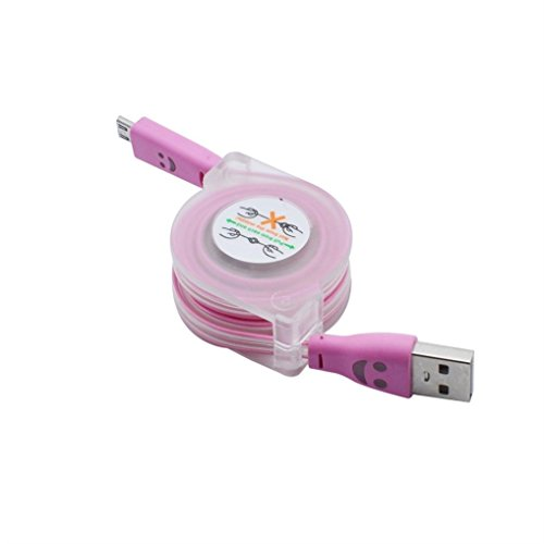 3.0A Hi-speed USB 2.0A Male to Micro USB Sync Charging Cable (Pink) - 8