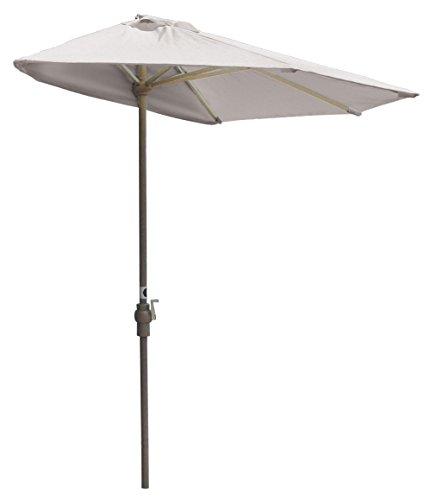 Blue Star Group Off-The-Wall Brella Natural Sunbrella Half Umbrella, 9 -Width, White