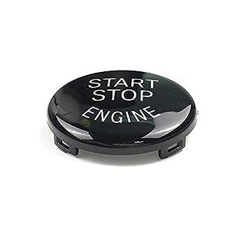 Semoic Auto Start Stop del Motore Interruttore Pulsante Sostituisci Copertura E60 E70 E71 E90 E92 E93 Nero