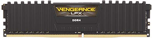 Corsair Vengeance LPX 16GB (2 X 8GB) DDR4 3000 (PC4-24000) C16 1.35V Desktop Memory - Black PC Memory CMK16GX4M2D3000C16 ()