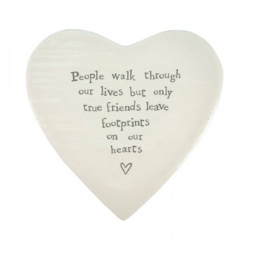 Eofi Ceramic Coaster People Walk Through - Footprints Heart Shopping Results