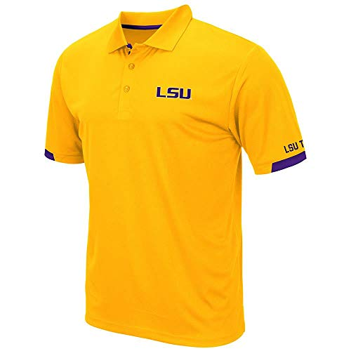 Mens LSU Louisiana State Tigers Fairway Short Sleeve Polo Shirt - L