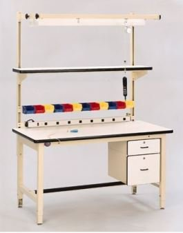 Esd Workbench (R W Hatfield - Proline, Cantilever Shelves, Cspl1872C, Desc: 18 X 72 Esd, Cspl1872C)