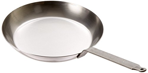 Matfer Bourgeat 062005 Black Steel Round Frying Pan, 11 7/8-Inch, Gray