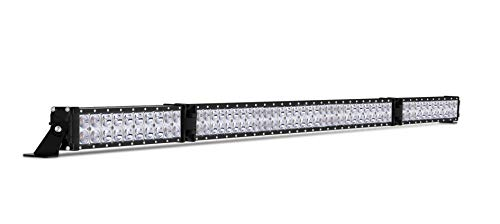 (Autofeel LED Light Bar, Amber and White Dual Color 50 inch 30000LM 15000K Spot and Flood Beam Combo Dual Row Light Off Road Fog & Driving Light Bars for Jeep Ford Trucks Boat, 5 Year Warranty)