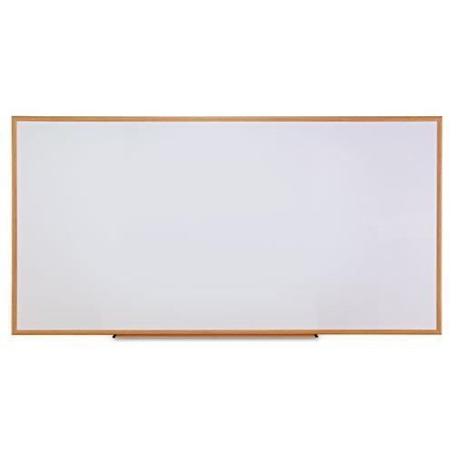 Universal Dry Erase Marker Board, Melamine, 96 x 48, Oak Wood Frame