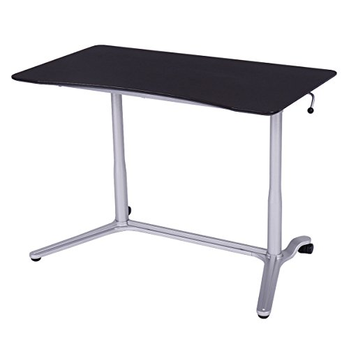 [Tangkula Laptop Desk Table Height Adjustable Computer Desk Sit-Stand Notebook Table] (Computer Height Adjustable Training Table)