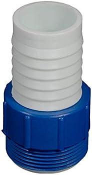 Adaptador Para Conexão de Mangueira de Piscina Azul e Branco