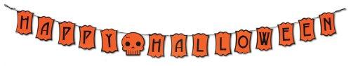Beistle Felt Happy Halloween Streamer, 5-Inch by 6-Feet -