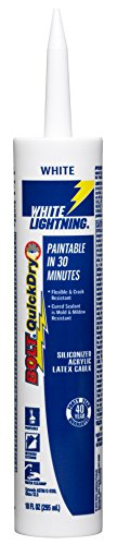 White Lightning Bolt - White Lightning 20510 Bolt All Purpose Caulk White, 10-Ounce Cartridge