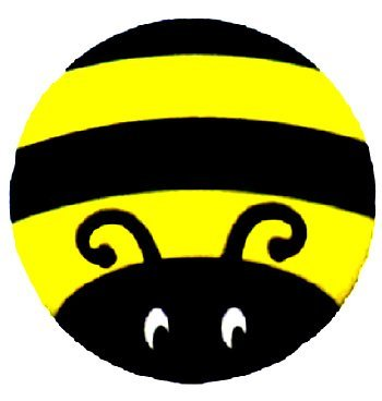 - Bumble Bee Auto Coaster, Single Coaster for Your Car