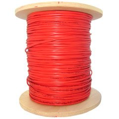 ElectroExperts 6 Fiber Indoor Distribution Fiber Optic Cable, Multimode, 62.5/125, Orange, Riser Rated, Spool, 1000 foot