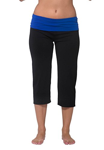 Nouveau Active Capri Yoga Pant with Contrasting Color Waistband
