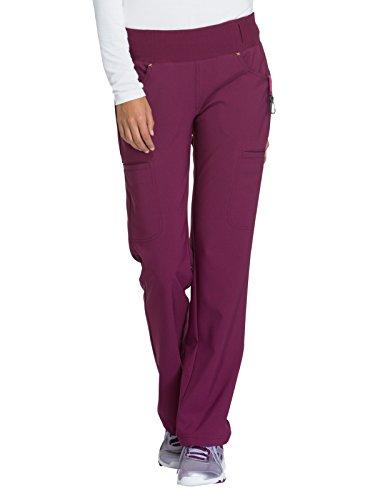 Cherokee iFlex CK002 Mid Rise Pull-On Pant Wine (Best Cherokee Underwear)