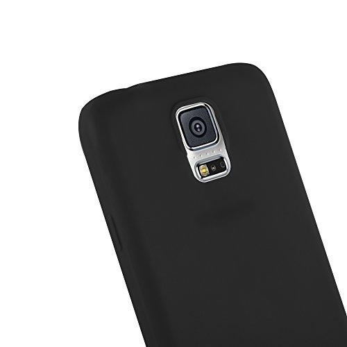 Cadorabo - Cubierta protectora Samsung Galaxy S5 de silicona TPU en diseño Candy - Case Cover Funda Carcasa Protección en AZUL-CANDY NEGRO-CANDY