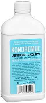 Kondremul Lubricant Laxative, Mineral Oil 16 fl oz, Pack of 5 by Kondremul