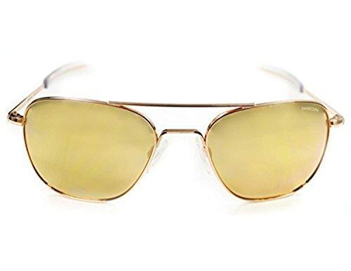 Mirror Gold Spectrum Bayonet Sunglasses Aviator 22k Rose Fl Ar Randolph AHFqT4