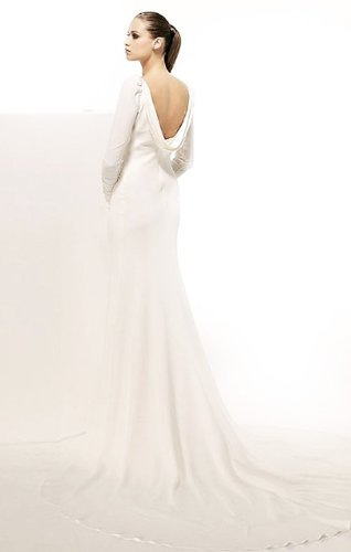 Lemandy Robe de mariée avec manches ivoire
