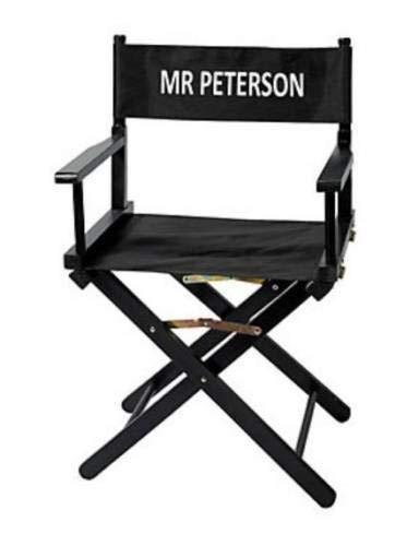 (Diamondgift Folding Director's Chair Hollywood Theme Chairs Free Personalized Canvas Seat)