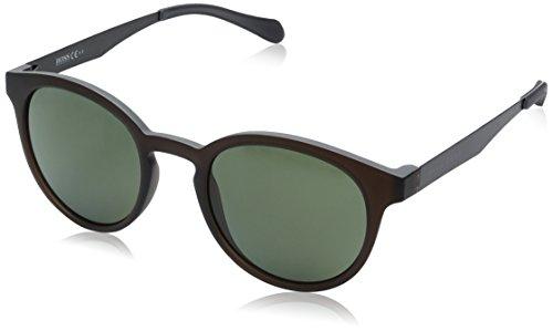 BOSS by Hugo Boss Men's B0869s Round Sunglasses, Matte Brown Crystal/Green Polarized, 51 - Hugo Boss Glasses Round