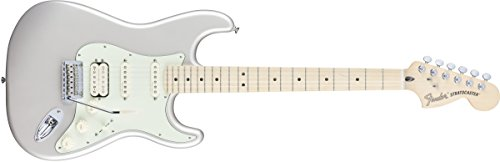 Fender 6 String Deluxe Stratocaster Electric Guitar HSS, Maple Fingerboard, Blizzard Pearl (0147202355
