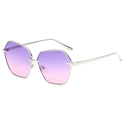 Aoligei Océan morceau lunettes de soleil femme mode polygone lunettes de soleil H