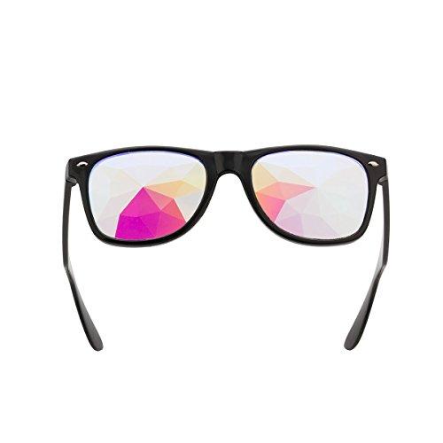 Geometric Prism Kaleidoscope Goggles Rave Dance Refraction Fashion Sunglasses US