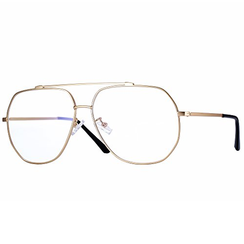 Pro Acme Fashion Premium Irregular Polygon Aviator Clear Lens Glasses Frame - Aviator Glasses Optical