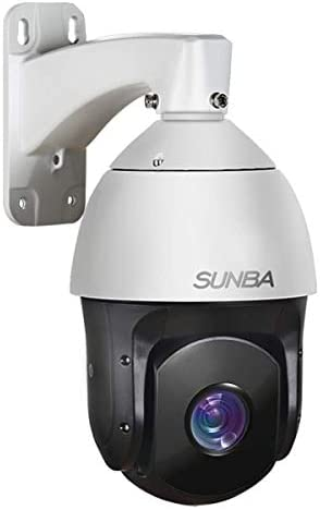 SUNBA 1080p Starlight PoE Outdoor PTZ Camera, 20x Optical Zoom H.265, 24×7 Automatic PTZ Tour, Long Range Infrared Night Vision up to 800ft 601-D20X